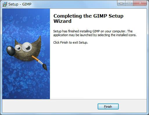 GIMPをインストール完了