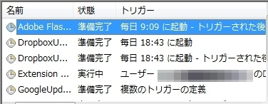 Extension Cookingアドウエア広告 タスクマネージャー
