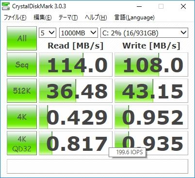 Inspiron15 5558 CrystalDiskMark