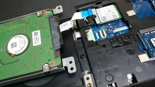 INSPIRON15 5558 SSD換装 HDD外す