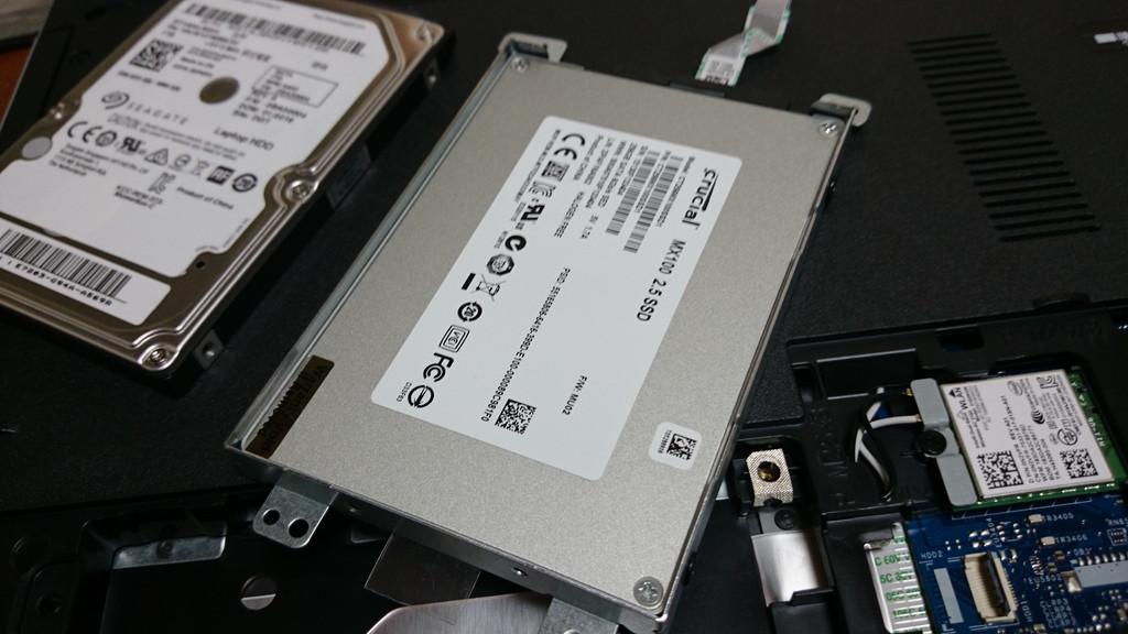 INSPIRON15 5558 SSD換装 SSDハメる
