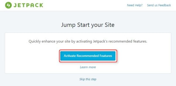 Jetpack SNS自動通知 Activate Recommended Features