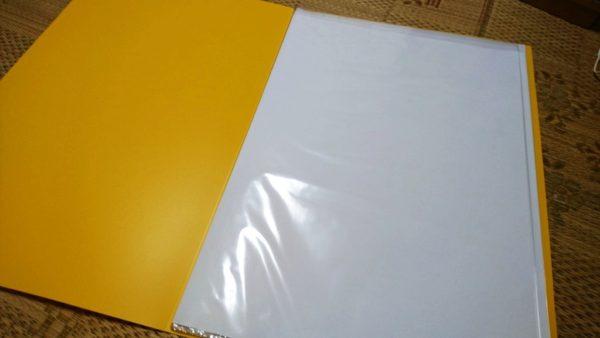 タワレコB2ポスターファイル 中に薄紙