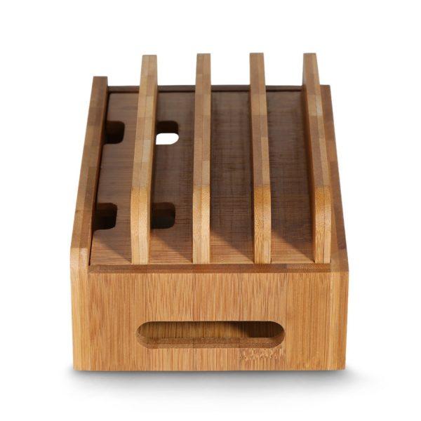 自作充電スタンド 竹製卓上ホルダー