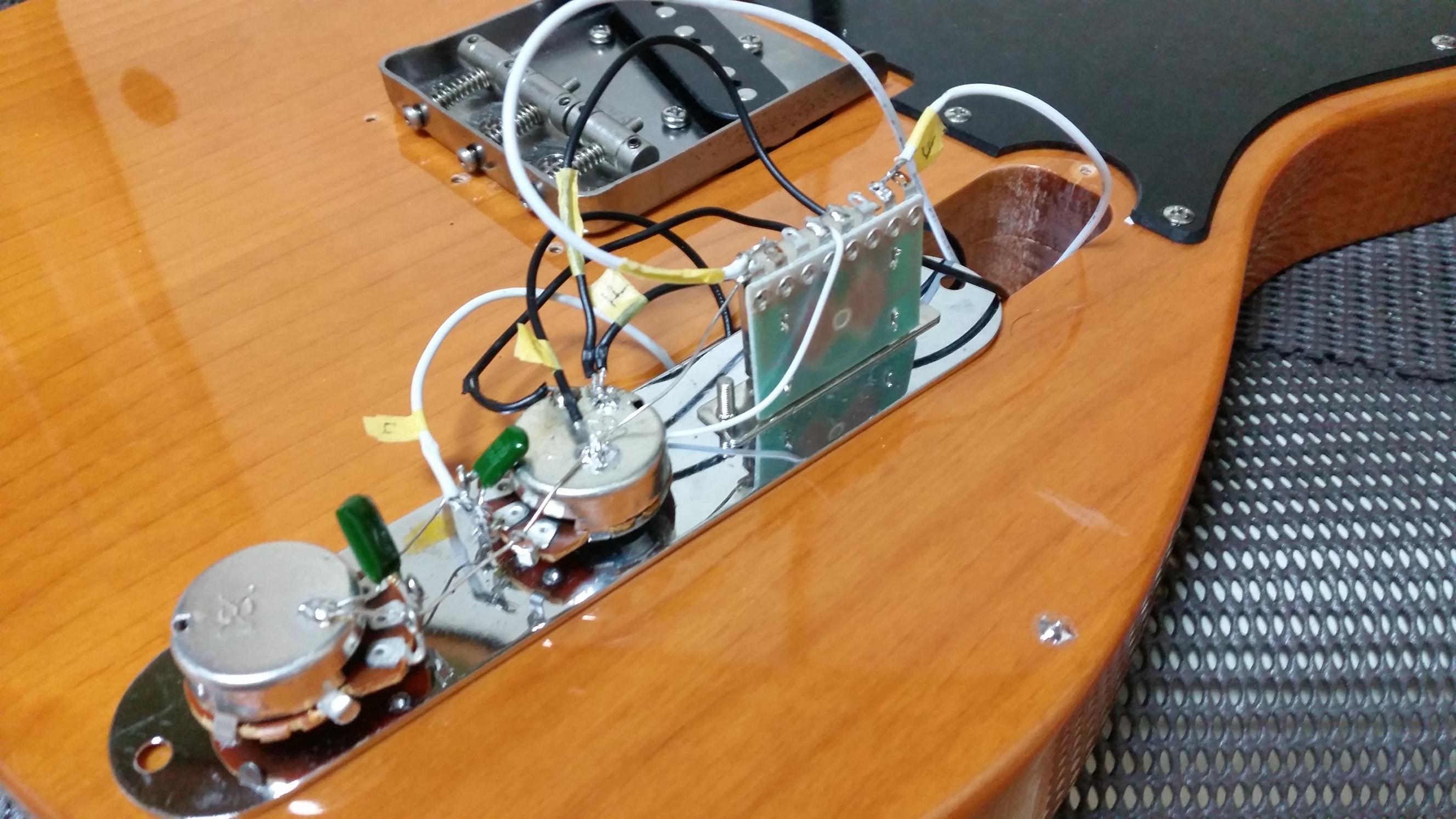 テレキャスター 裏通し弦穴加工 ブリッジ交換 組み立て