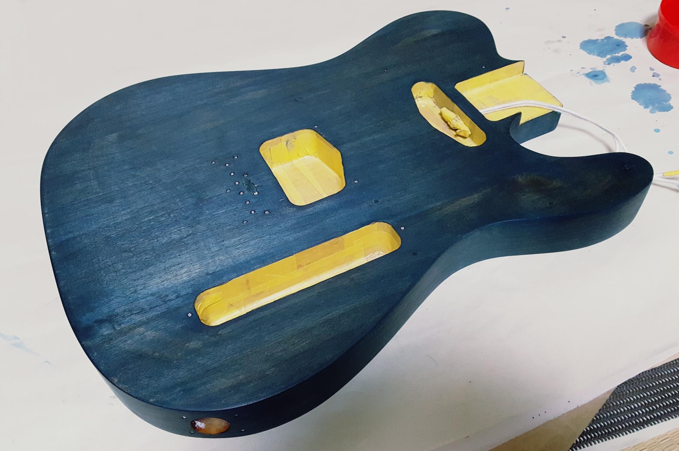 ギターオイルフィニッシュ  3回目