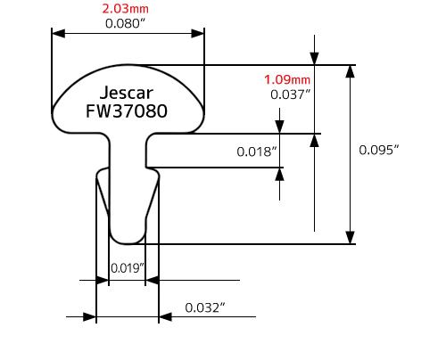 フレット Jescar FW3708 8230 2.03×1.09 .080×.037