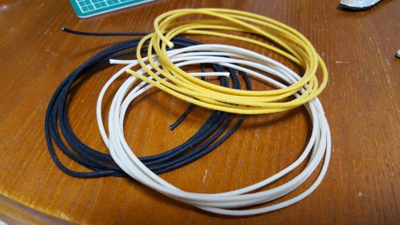 アベフトシテレキャスターカスタム自作 クロスワイヤー(レプリカ)の22AWG 撚り線 7×30AWG