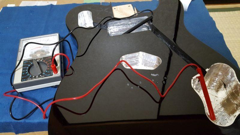 アベフトシテレキャスターカスタム自作 シールディングの通電確認