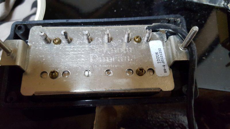 レスポール ポット交換 配線 セイモア・ダンカンのSH-4 JB