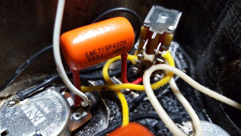 レスポール ポット交換 配線 ESPオリジナルBOURNS製ポット・オレンジドロップ
